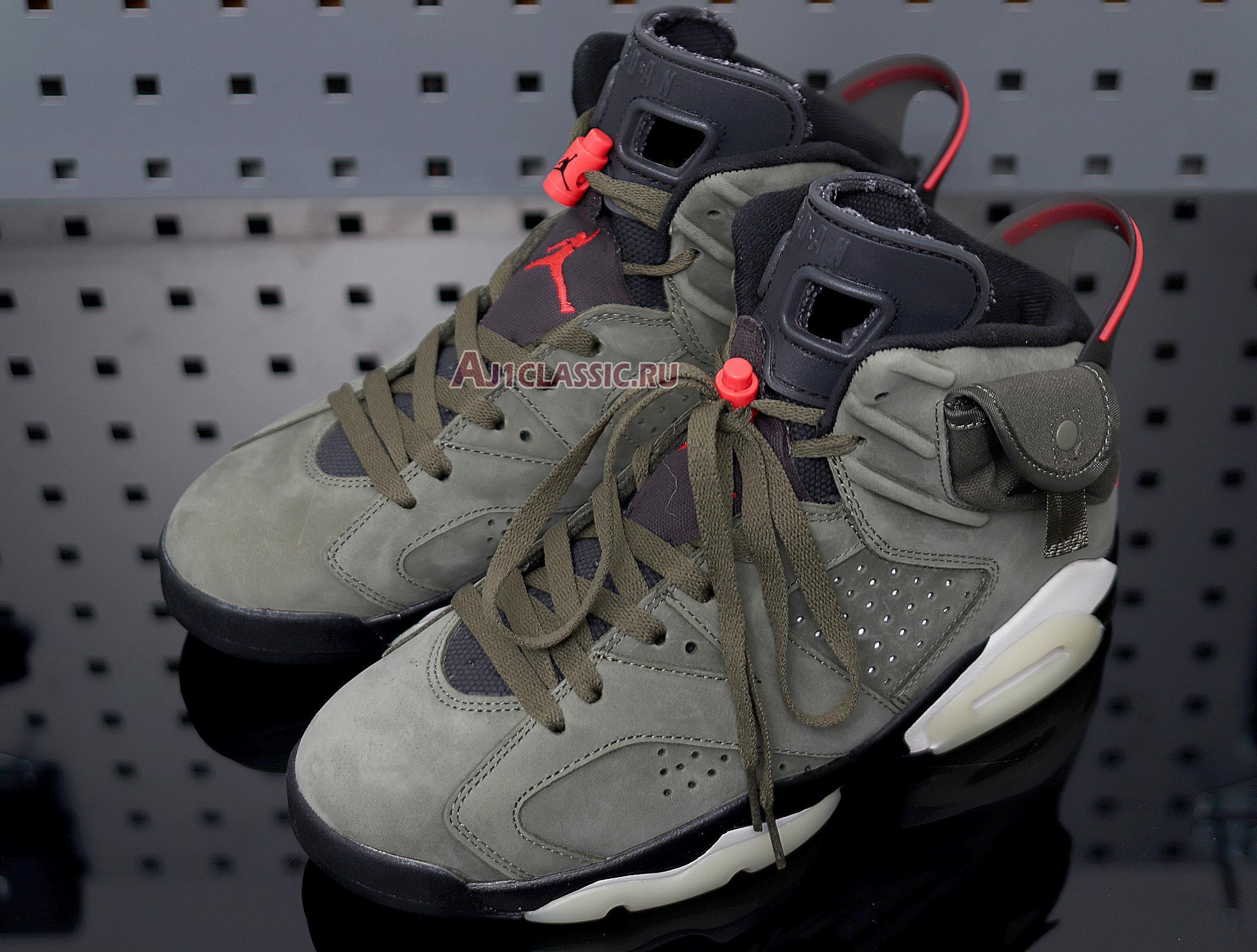 """Travis Scott x Air Jordan 6 Retro """"Medium Olive"""" CN1084-200"""