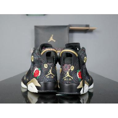 Air Jordan 6 Retro Chinese New Year AA2492-021 Black/Multi-Color-Summit White-Metallic Gold Sneakers