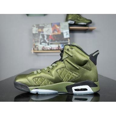Air Jordan 6 Retro Pinnacle Saturday Night Live AH4614-303 Palm Green/Palm Green-Black Sneakers
