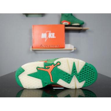 Air Jordan 6 Retro NRG Green Suede Gatorade AJ5986-335 Pine Green/Pine Green-Orange Blaze Sneakers