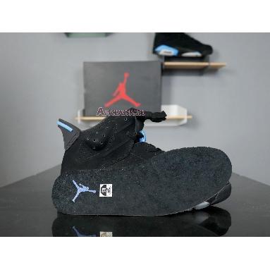 Air Jordan 6 Retro UNC 384664-006 Black/University Blue Sneakers