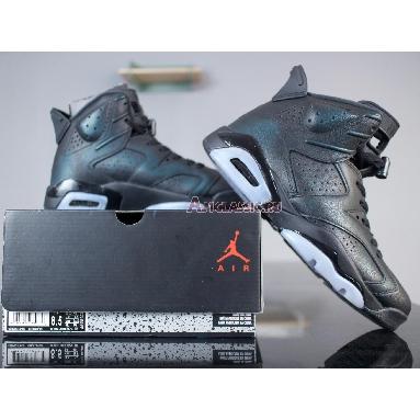 Air Jordan 6 Retro All Star Chameleon 907961-015 Black/Metallic Silver-Black Sneakers