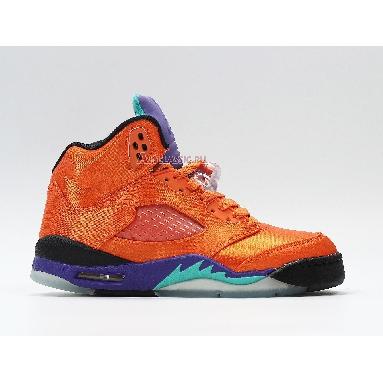 Air Jordan 5 Retro Fresh Prince of Bel-Air Friends and Family MNJDLS-818-861523 Gold/Orange/Purple/Blue/Black Sneakers
