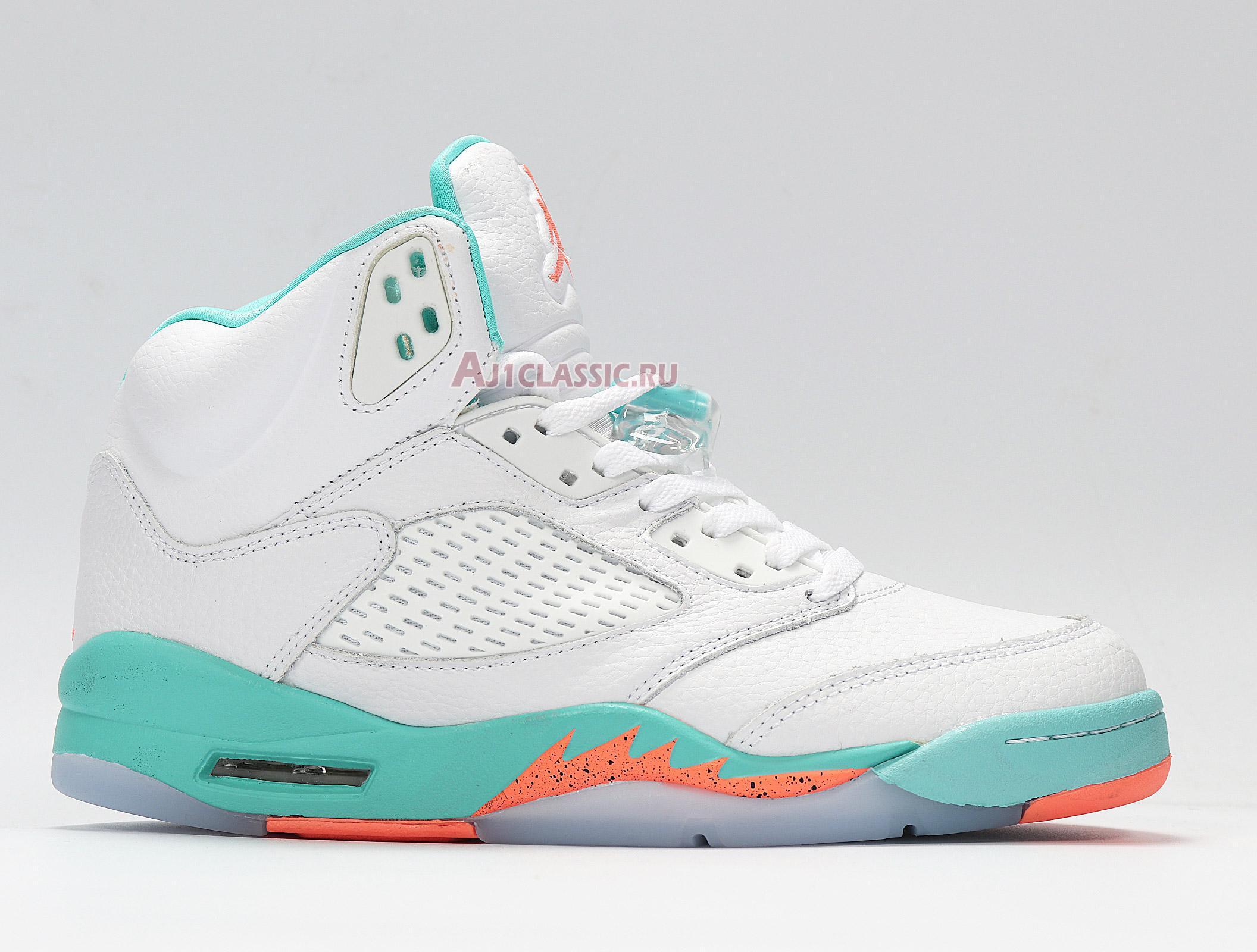 "Air Jordan 5 Retro ""Light Aqua"" 440892-100"