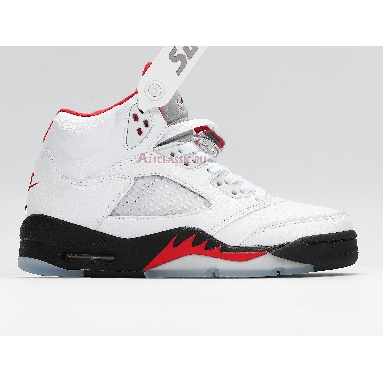 Air Jordan 5 Retro Fire Red 2020 DA1911-102 White/Fire Red-Black Sneakers