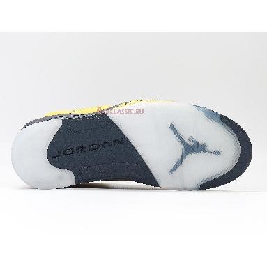 Air Jordan 5 Retro SP Michigan CQ9541-704 Amarillo/College Navy-Amarillo Sneakers