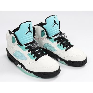 Air Jordan 5 Retro Island Green CN2932-100 White/Black/White/Island Green Sneakers