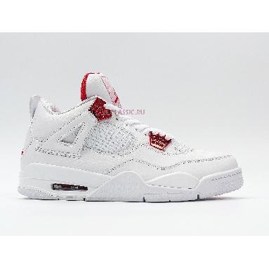 Air Jordan 4 Retro Red Metallic CT8527-112 White/University Red-Metallic Silver Sneakers