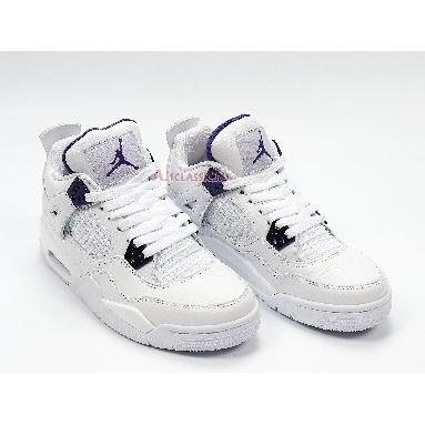 Air Jordan 4 Retro Purple Metallic 408452-115 White/Metallic Silver/Court Purple Sneakers