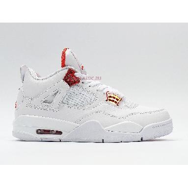 Air Jordan 4 Retro Orange Metallic CT8527-118 White/Total Orange/Metallic Silver Sneakers