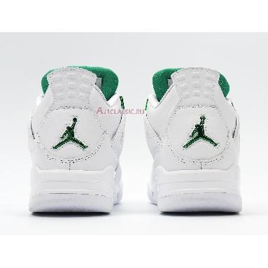 Air Jordan 4 Retro Green Metallic CT8527-113 White/Pine Green/Metallic Silver Sneakers