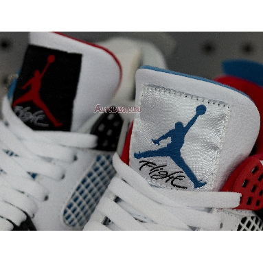 Air Jordan 4 Retro SE What The 4 CI1184-146 White/Fire Red-Tech Grey-Military Blue Sneakers