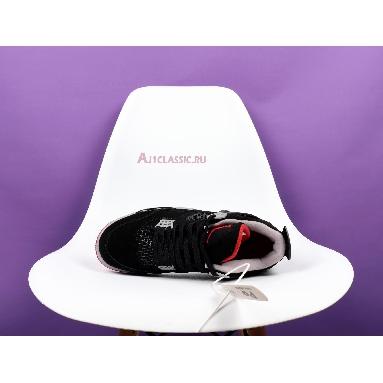 Air Jordan 4 Retro OG Bred 2019 308497-060 Black/Cement Grey-Summit White-Fire Red Sneakers