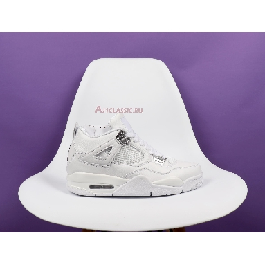 Air Jordan 4 Retro Pure Money 2017 308497-100 White/Metallic Silver-Pure Platinum Sneakers