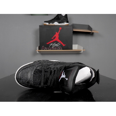 Air Jordan 4 Retro Laser CI1184-001 Black/White-Gum Light Brown Sneakers