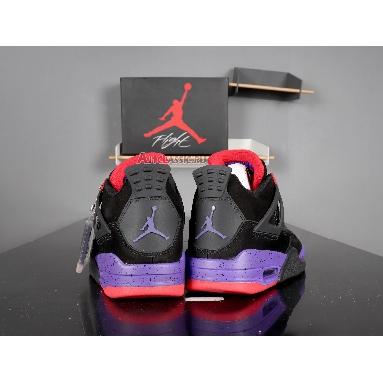 Air Jordan 4 Retro NRG Raptors AQ3816-065 Black/University Red-Court Purple Sneakers