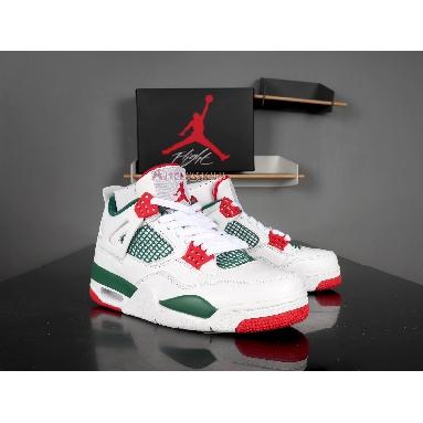 Air Jordan 4 Retro NRG Do The Right Thing AQ3816-163 White/Gorge Green-Varsity Red Sneakers