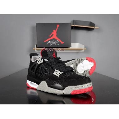 Air Jordan 4 Retro Bred 2012 308497-089 Black/Tech Grey-Black Sneakers