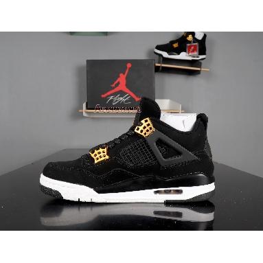 Air Jordan 4 Retro Royalty 308497-032 Black/Metallic Gold-White Sneakers