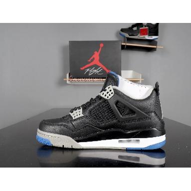 Air Jordan 4 Retro Motorsports Alternate 308497-006 Black/Game Royal-Matte Silver-White Sneakers