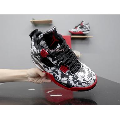 Air Jordan 4 Retro Tattoo BQ0897-006 Black/Fire Red-Black-White Sneakers