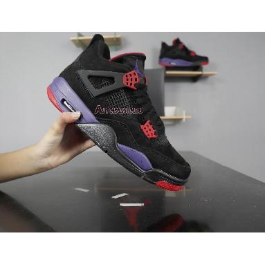 Air Jordan 4 Retro NRG Raptors - Drake Signature AQ3816-056 Black/University Red-Court Purple Sneakers