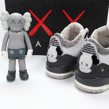 BespokeIND x Air Jordan 3 Kaws AJ3-BespokeIND Fresh Water White/Light Gery Sneakers