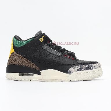 Air Jordan 3 Retro SE Animal Instinct 2.0 CV3583-003 Black/Black/White/Gorge Green Sneakers