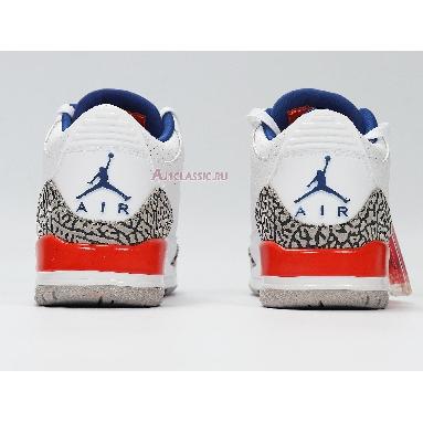 Air Jordan 3 Retro Knicks 136064-148 White/Old Royal-University Orange-Tech Grey Sneakers