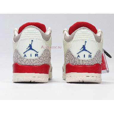 Air Jordan 3 Retro International Flight 136064-140 Sail/Sport Royal-Fire Red Sneakers