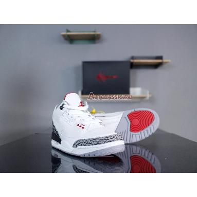 Air Jordan 3 Retro JTH NRG White Cement AV6683-160 White/Fire Red-Black-White Sneakers