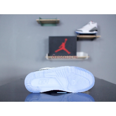 Air Jordan 3 Retro NRG Free Throw Line 923096-101 White/Fire Red-Cement Grey-Black Sneakers