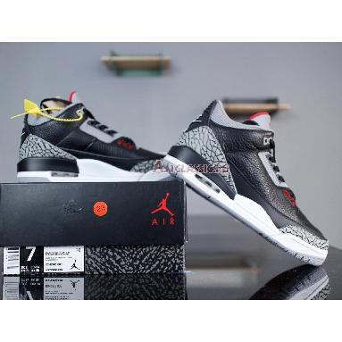 Air Jordan 3 Retro OG Black Cement 2018 854262-001 Black/Cement Grey-White-Fire Red Sneakers