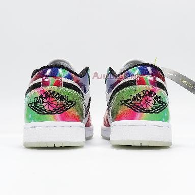 Air Jordan 1 Low Galaxy CW7310-909 Green/Blue/Red/White/Black Sneakers