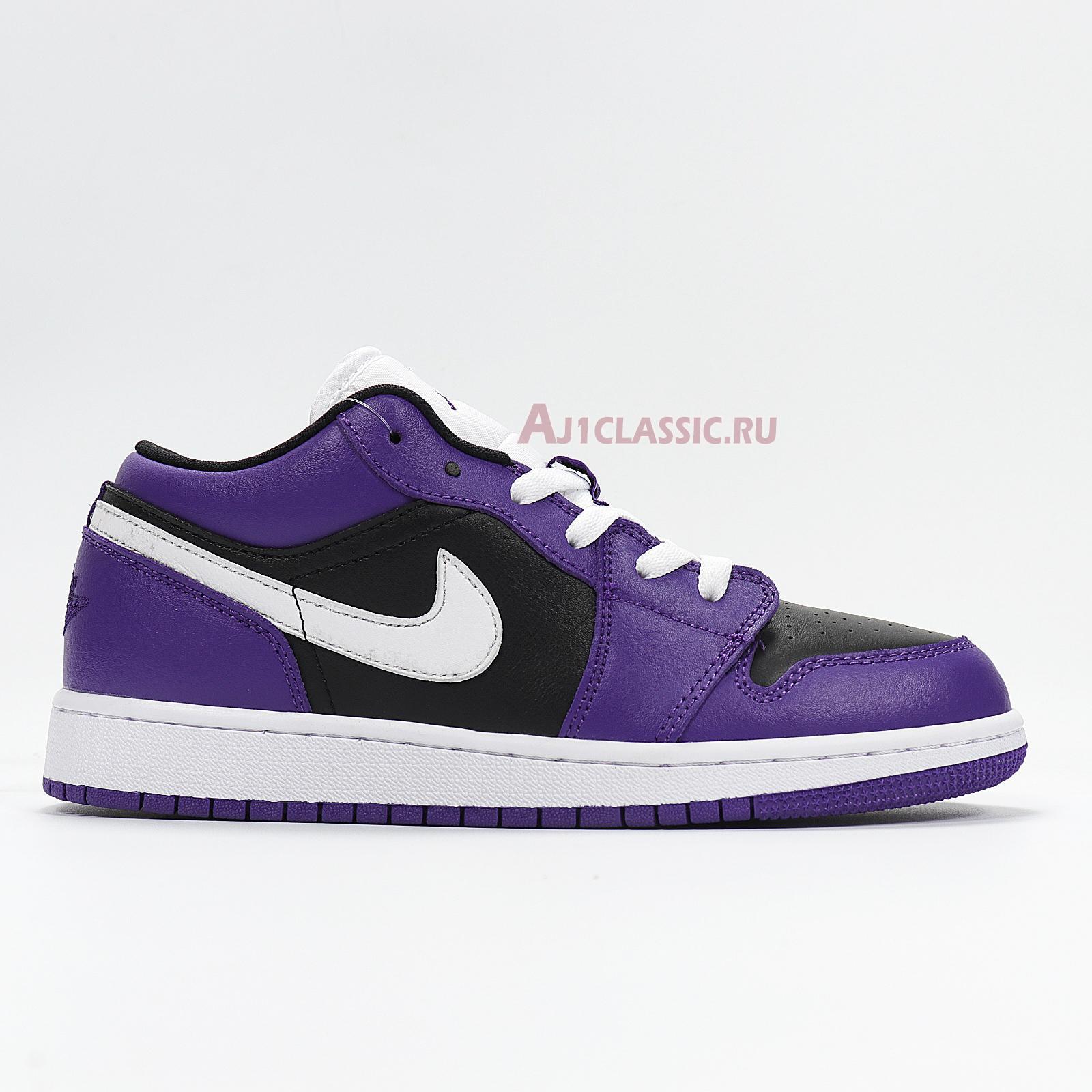 "Air Jordan 1 Low ""Black Court Purple"" 553558-501"