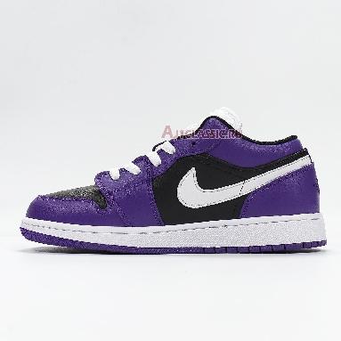 Air Jordan 1 Low Black Court Purple 553558-501 Court Purple/White/Black Sneakers