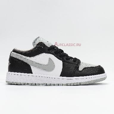 Air Jordan 1 Low Smoke Grey 553558-039 Black/Black-Light Smoke Grey-White Sneakers