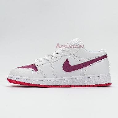 Air Jordan 1 Low White Berry 554723-161 White/True Berry-Rush Pink Sneakers