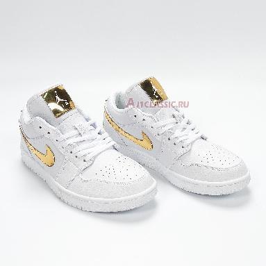 Air Jordan 1 Retro Low White Metallic Gold CZ4776-100 White/Metallic Gold Sneakers