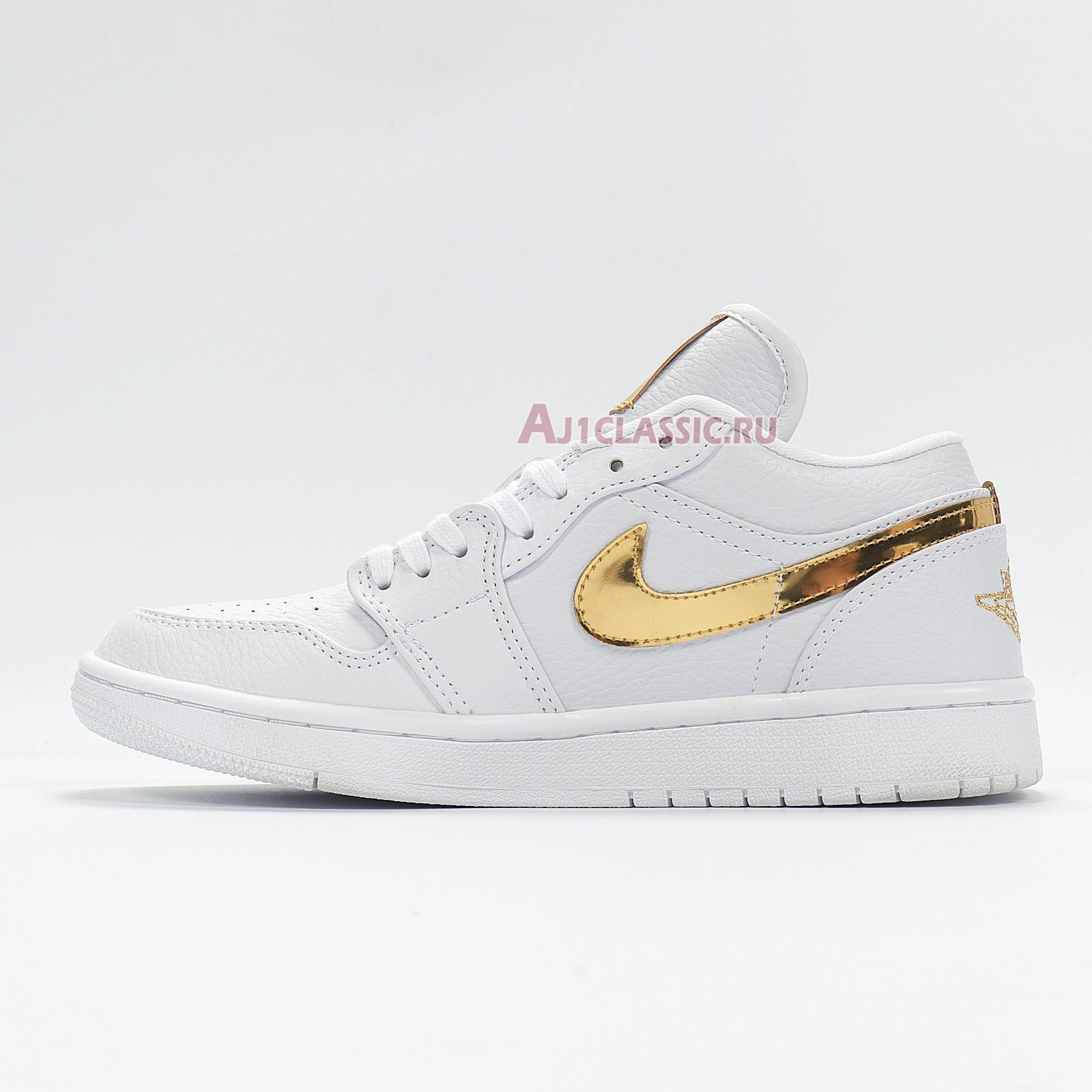 "Air Jordan 1 Retro Low ""White Metallic Gold"" CZ4776-100"