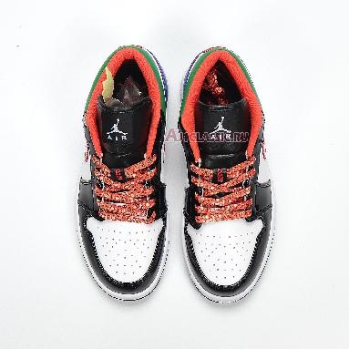 Air Jordan 1 Low Multi-Color CZ4776-101 White/Black/Red/Green/Blue Sneakers