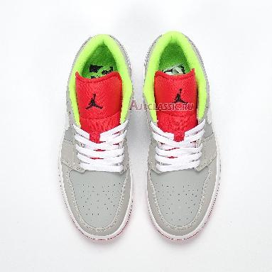 Air Jordan 1 Retro Low Hare 553558-021 Grey Mist/University Red-Light Poison Sneakers
