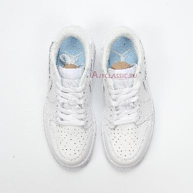 Air Jordan 1 Low ID Velcro White CJ7891-ID White/White-White Sneakers