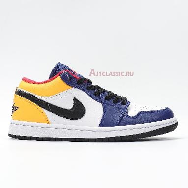 Air Jordan 1 Low Royal Yellow 553558-123 Blue/White/Yellow/Black/Red Sneakers
