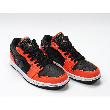 Air Jordan 1 Low Black Orange Toe CK3022-008 Black/Orange/White Sneakers