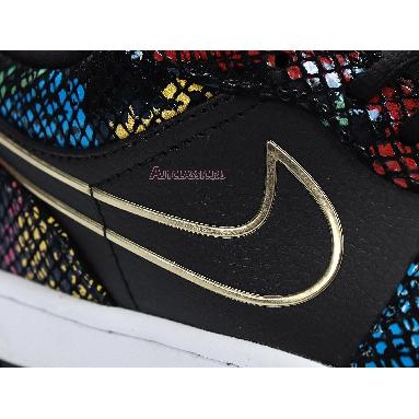 Air Jordan 1 Low Multi Snakeskin CW5580-001 Black/Metallic Gold/Multi/White Sneakers