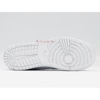 Air Jordan 1 Low GS Aurora Green 554723-101 White/White/Aurora Green/Soar Sneakers
