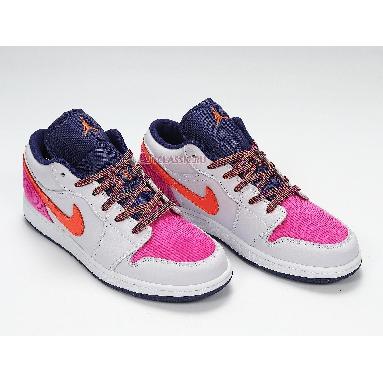 Air Jordan 1 Low GS Fire Pink Hyper Crimson 554723-502 Barely Grape/Fire Pink/Regency Purple/Hyper Crimson Sneakers