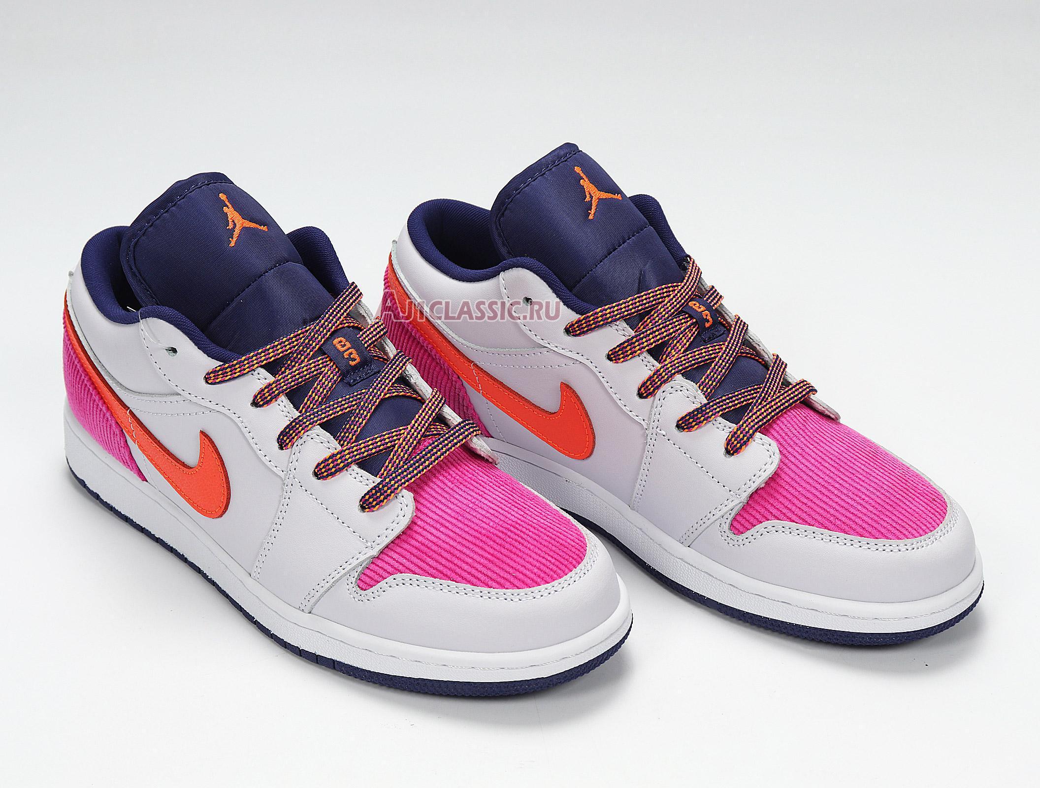 """Air Jordan 1 Low GS """"Fire Pink Hyper Crimson"""" 554723-502"""