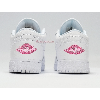 Air Jordan 1 Low GS Candy 554723-102 White/Pink/Blue Sneakers